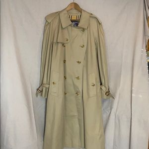 Burberrys vintage double breasted trench coat